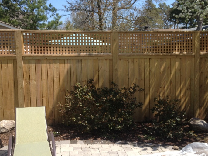 Poolside Fence - Before