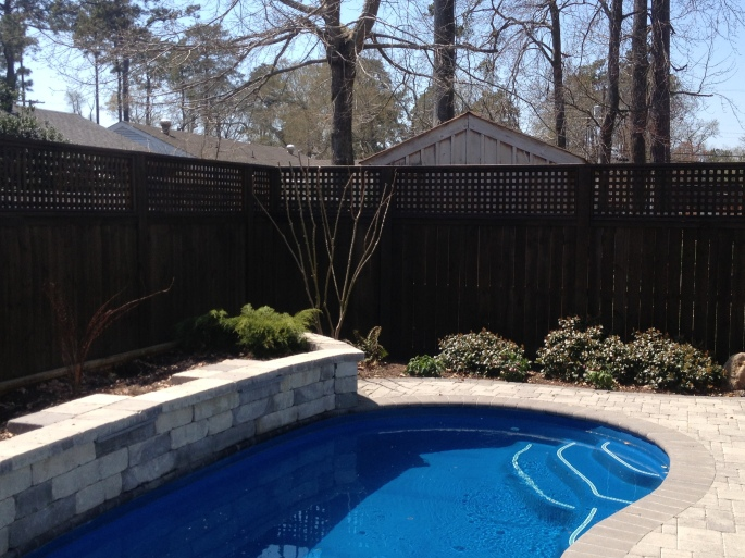 Poolside Fence - After
