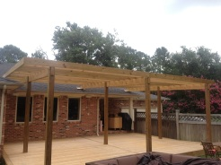 Deck and Pergola Before