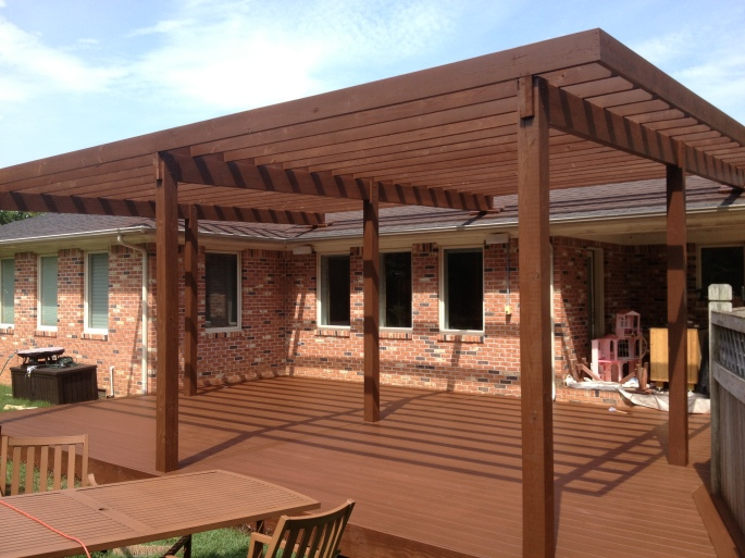 Deck and Pergola - After